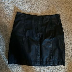 Modern femme vegan leather mini skirt!